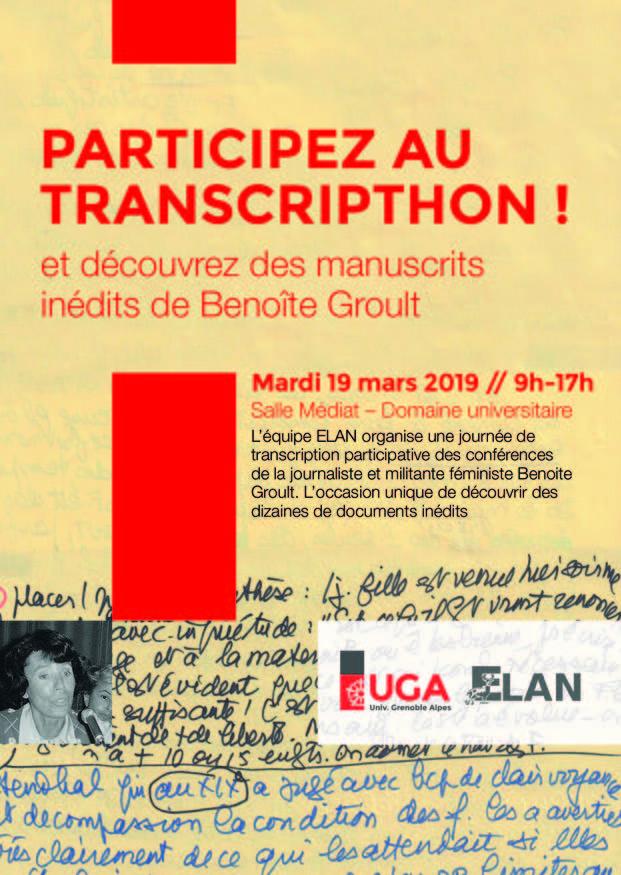 Flyer Transcripthon Benoîte Groult